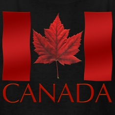 Canada-Flag-Souvenir-Kid-s-T-shirts-Boys---Girls-Canadian-Souvenir-Shirts